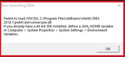 IntelliJ IDEA : Failed to load JVM DLL - CommandsTech